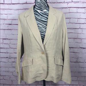 Talbots 100% Linen Blazer Size 16